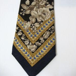 NAPOLEON Blue Floral Silk Necktie